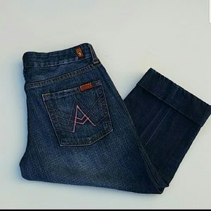 7 for all mankind crop Jean's size 29